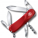 Нож перочинный 85мм Victorinox Evolution S101 2.3603.SE, 12 функций, 2 уровня, красный