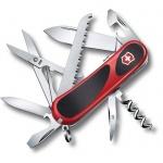 Нож перочинный 85мм Victorinox EvoGrip S17 2.3913.SC, 15 функций, 4 уровня, красно-черный