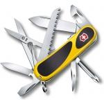 Нож перочинный 85мм Victorinox EvoGrip S18 2.4913.SC8, 15 функций, 3 уровня, желто-черный