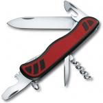 Нож перочинный 111мм Victorinox Nomad 0.8351.C, 11 функций, 2 уровня, красно-черный, с фиксатором