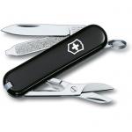 Нож-брелок 58мм Victorinox Classic 0.6223.B1, 7 функций, 1 уровень, черный