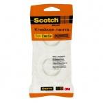 Клейкая лента канцелярская Scotch 12мм х 25м, прозрачная, 2шт/уп