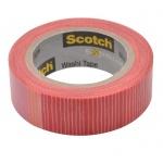 Клейкая лента декоративная Scotch Washi 15мм х10м, полоски
