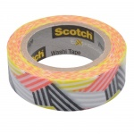 Клейкая лента декоративная Scotch Washi 15мм х10м, графика