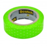 Клейкая лента декоративная Scotch Washi 15мм х10м, горошек