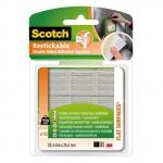 Клейкие квадраты монтажные Scotch 25.4мм х25.4мм, прозрачные, удаляемые, R100, 18шт