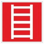 Знак Пожарная лестница Гасзнак 200х200мм, самоклеящаяся пленка ПВХ, F03