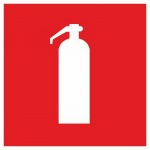 Знак Огнетушитель Гасзнак 200х200мм, самоклеящаяся пленка ПВХ, 10шт/уп, F04