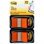 Клейкие закладки пластиковые Post-It Professional оранжевый, 25х38мм, 2х50 листов, в диспенсере, 680