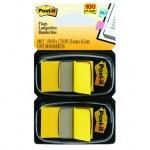 Клейкие закладки пластиковые Post-It Professional желтый, 25х38мм, 2х50 листов, в диспенсере, 680-YW