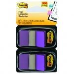 Клейкие закладки пластиковые Post-It Professional фиолетовый, 25х38мм, 2х50 листов, в диспенсере, 68