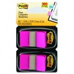 Клейкие закладки пластиковые Post-It Professional розовый, 25х38мм, 2х50 листов, в диспенсере, 680-B