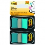 Клейкие закладки пластиковые Post-It Professional голубой, 25х38мм, 2х50 листов, в диспенсере, 680-B