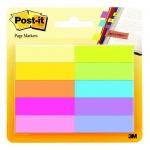 Клейкие закладки бумажные Post-It Professional 10 цветов, 12.7х44.5мм, 10х50 листов, 670-10AB