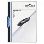Пластиковая папка с клипом Durable Swingclip, А4, до 30 листов, синяя