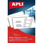 Карман для визитных краточек Apli 60x105мм, самоклеящийся неудаляемый, 10 шт/уп, 2579