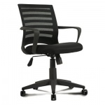 Кресло офисное Brabix Carbon MG-303 ткань, черная, крестовина пластик, черное