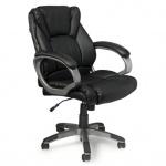 Кресло руководителя Brabix Eldorado EX-504 иск. кожа, черная, крестовина хром