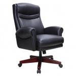 Кресло руководителя Brabix Gladiator EX-700 нат. кожа, черная, крестовина дерево
