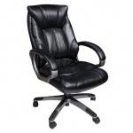 Кресло руководителя Brabix Maestro EX-506 иск. кожа, черная, крестовина пластик
