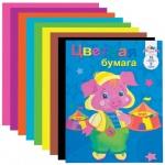 Цветная бумага Апплика 8 цветов, А4, 16 листов, двусторонняя