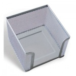 Подставка для бумажного блока Brauberg серебристая, 7.8х10.5х10.5см, металл