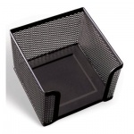 Подставка для бумажного блока Brauberg черная, 7.8х10.5х10.5см, металл