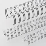 Пружины для переплета металлические Office Kit, на 50-100 листов, 12.7мм, 100шт, серебристые