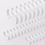 Пружины для переплета металлические Office Kit белые, на 1-30 листов, 6.4мм, 100шт