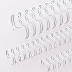 Пружины для переплета металлические Office Kit, на 10-50 листов, 8мм, 100шт, белые