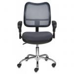 Кресло офисное Бюрократ CH-799SL/DG ткань, TW, крестовина хром, темно-серое