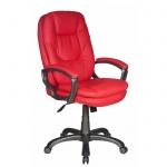 Кресло руководителя Бюрократ CH-868AXSN, крестовина пластик, красное, кожзам
