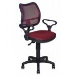 Кресло офисное Бюрократ CH-799 ткань, бордовая, TW, крестовина пластик