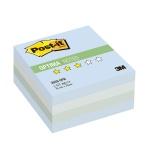 Блок для записей с клейким краем Post-It Optima Зима, 3 цвета пастельный, 76х76мм, 400 листов, 2028-