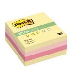 Блок для записей с клейким краем Post-It Optima Осень, 3 цвета пастельный, 76х76мм, 400 листов, 2028