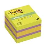 Блок для записей с клейким краем Post-It Optima Весна, 3 цвета неон, 51x51мм, 400 листов, 2051-ON