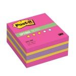 Блок для записей с клейким краем Post-It Optima, 3 цвета неон, 400 листов, малиновый неон радуга