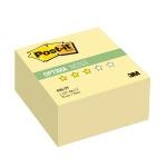 Блок для записей с клейким краем Post-It Optima канареечный желтый, пастельный, 76х76мм, 400 листов, 636-OY