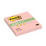 Блок для записей с клейким краем Post-It Optima Осень, розовая пастель, 76х76мм, 100 листов, 654-OPC