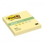 Блок для записей с клейким краем Post-It Optima Осень, желтый неон, 76х76мм, 100 листов, 654-OY