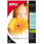 Фотобумага для струйных принтеров Apli А6, 100 листов, 180 г/м2, глянцевая, 11476