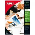 Фотобумага для лазерных принтеров Apli А4, 100 листов, 210 г/м2, глянцевая