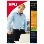 Фотобумага для струйных принтеров Apli А4, 20 листов, 170 г/м2, матовая, двусторонняя