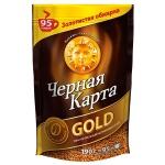 Кофе растворимый Черная Карта Голд 190г, пакет