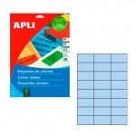 Этикетки цветные Apli 1591, 70x37мм, 480шт, голубые