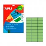 Этикетки цветные Apli 1594, 70x37мм, 480шт, зеленые