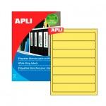 Этикетки для папок Apli, 190х38мм, 140шт, желтый