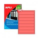 Этикетки для папок Apli, 190х38мм, 140шт, красный