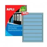 Этикетки для папок Apli, 190х38мм, 140шт, голубой