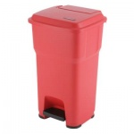 Контейнер для мусора Vileda Pro Гера 60л, с педалью и крышкой, красный, 137752
